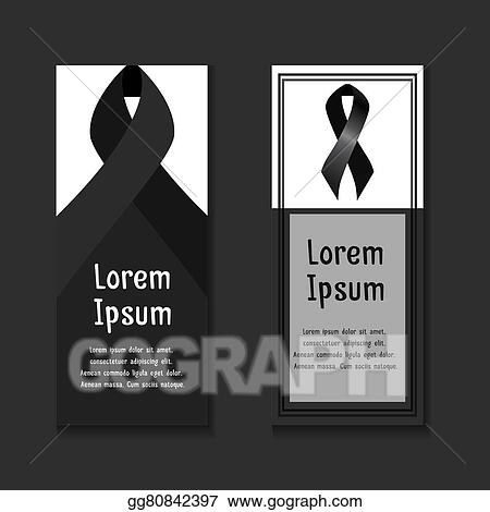 Vector Illustration - Template letters of condolence EPS Clipart