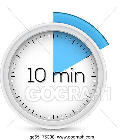 Vector Stock - Ten minutes timer Clipart Illustration gg65175338