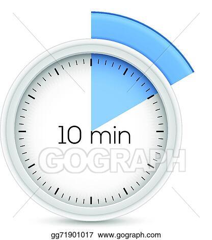 Vector Stock - Ten minutes timer Clipart Illustration gg71901017