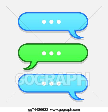 Vector Illustration - Text message bubbles back and forth Stock - cool text message art