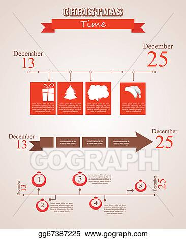 EPS Vector - Three christmas season time line templates with
