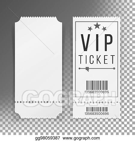Vector Art - Ticket template set vector blank theater, cinema