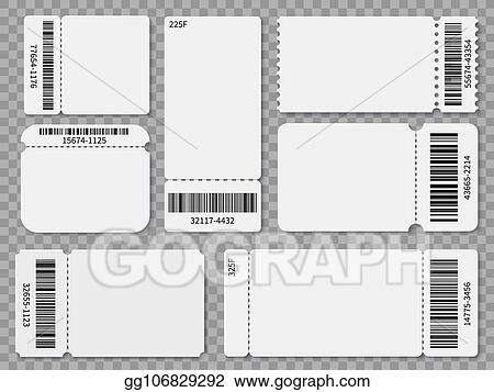 Vector Stock - Ticket templates blank admit one festival concert