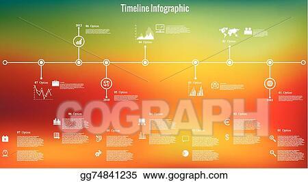 Vector Illustration - Time line infographics blurred back EPS