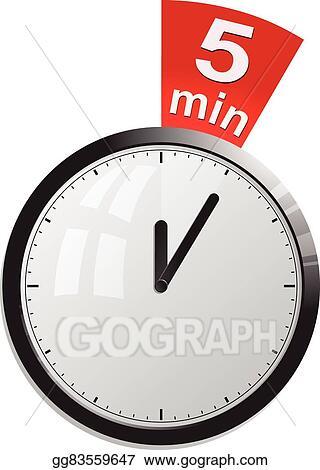 Vector Stock - Timer 5 minutes vector illustration Stock Clip Art