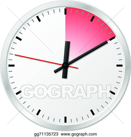 Vector Clipart - Timer with 10 (ten) minutes Vector Illustration