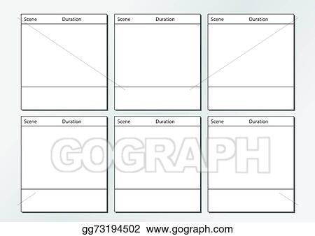 Vector Illustration - Tv commercial storyboard template x6 Stock