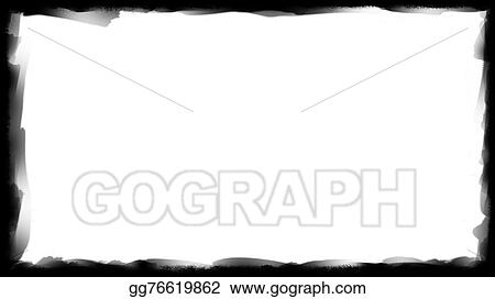 Drawings - Unique black border on white Stock Illustration