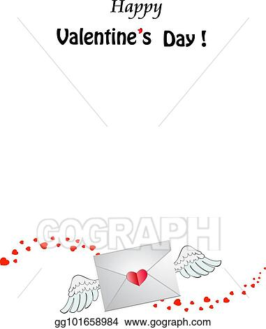 Vector Illustration - Valentine\u0027s day template with closed heart
