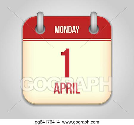 Vector Stock - Vector calendar apps icon 1 april fool\u0027s day Stock - apps symbol