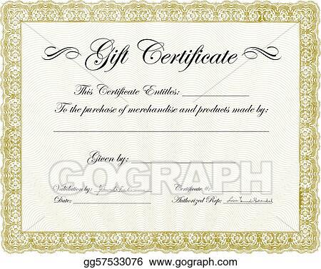 Clip Art Vector - Vector gift certificate frame Stock EPS
