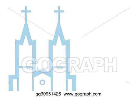 Vector Art - Vector illustration of catholic church, vector eps 10