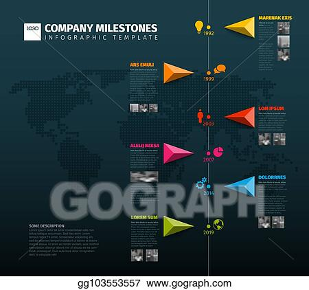 Vector Art - Vector infographic company history timeline template