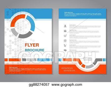 Vector Illustration - Vector modern brochure, abstract flyer with