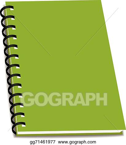 Vector Art - Vector stack of ring binder book or notebook isolated