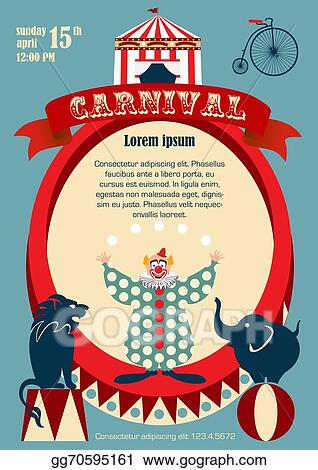 EPS Vector - Vintage carnival or circus poster  Stock Clipart