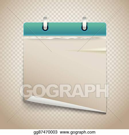 Vector Illustration - Vintage paper diary with bended corner on