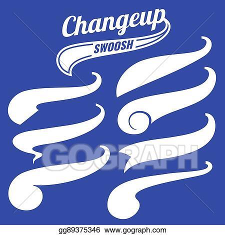 Vector Illustration - Vintage swash baseball logo tails vector set
