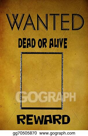 Clipart - Vintage wanted poster template Stock Illustration