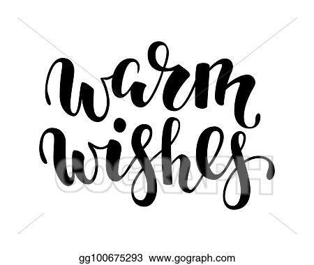 Vector Stock - Warm wishes hand drawn creative calligraphy, brush