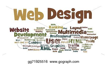 Clip Art - Web design word cloud Stock Illustration gg71925516