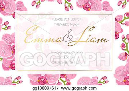 EPS Vector - Wedding event invitation card template rectangular