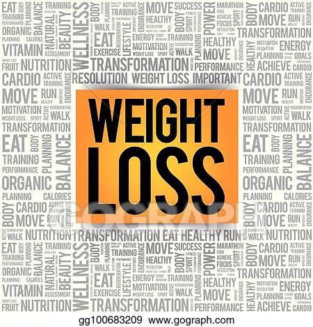 Vector Illustration - Weight loss word cloud Stock Clip Art