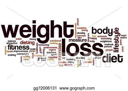 Stock Illustrations - Weight loss word cloud Stock Clipart