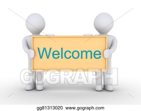 Drawings - Welcome message Stock Illustration gg81313020 - GoGraph