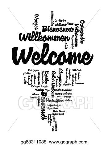 Drawings - Welcome word cloud Stock Illustration gg68311088 - GoGraph