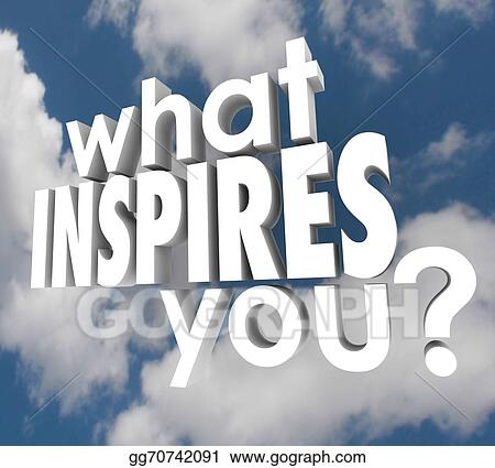 Clip Art - What inspires you question spark imagination creativity