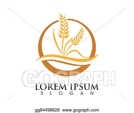 Vector Stock - Wheat logo template Stock Clip Art gg84498628 - GoGraph - wheat template