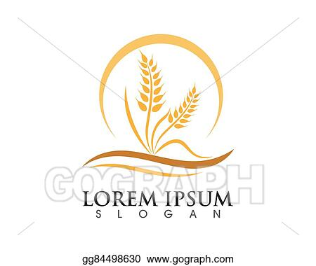 Vector Stock - Wheat logo template Stock Clip Art gg84498630 - GoGraph - wheat template