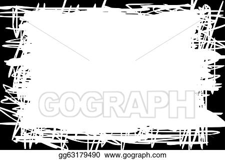 EPS Vector - White background with black border Stock Clipart