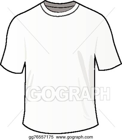 Vector Art - White front tee shirt Clipart Drawing gg76557175 - GoGraph
