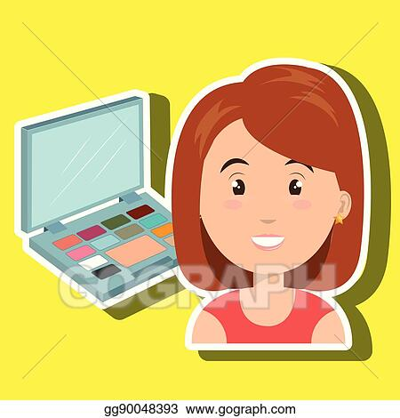 Vector Art - Woman make up cosmetic Clipart Drawing gg90048393