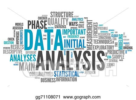 Drawing - Word cloud data analysis Clipart Drawing gg71108071 - GoGraph
