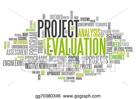 Stock Illustration - Word cloud project evaluation Clipart - project evaluation