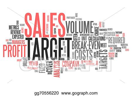 Stock Illustration - Word cloud sales target Clipart Illustrations - sales word