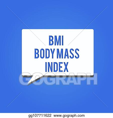 Stock Illustration - Word writing text bmi body mass index business