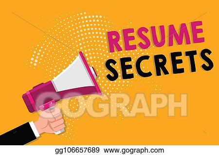Stock Illustration - Word writing text resume secrets business