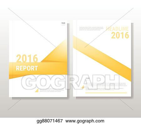 EPS Vector - Yellow annual report leaflet brochure flyer template a4