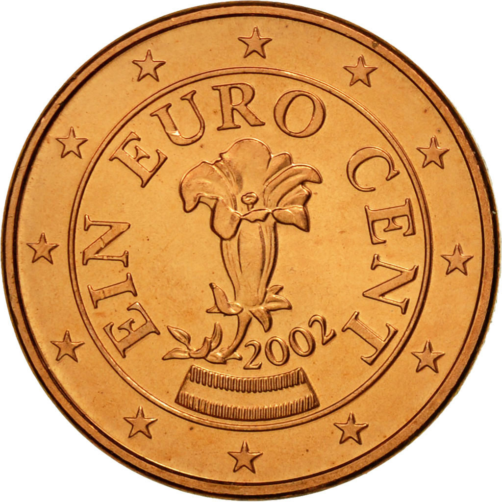 Ebay 1 Euro Details About 461225 Austria Euro Cent 2002 Copper Plated Steel Km 3082