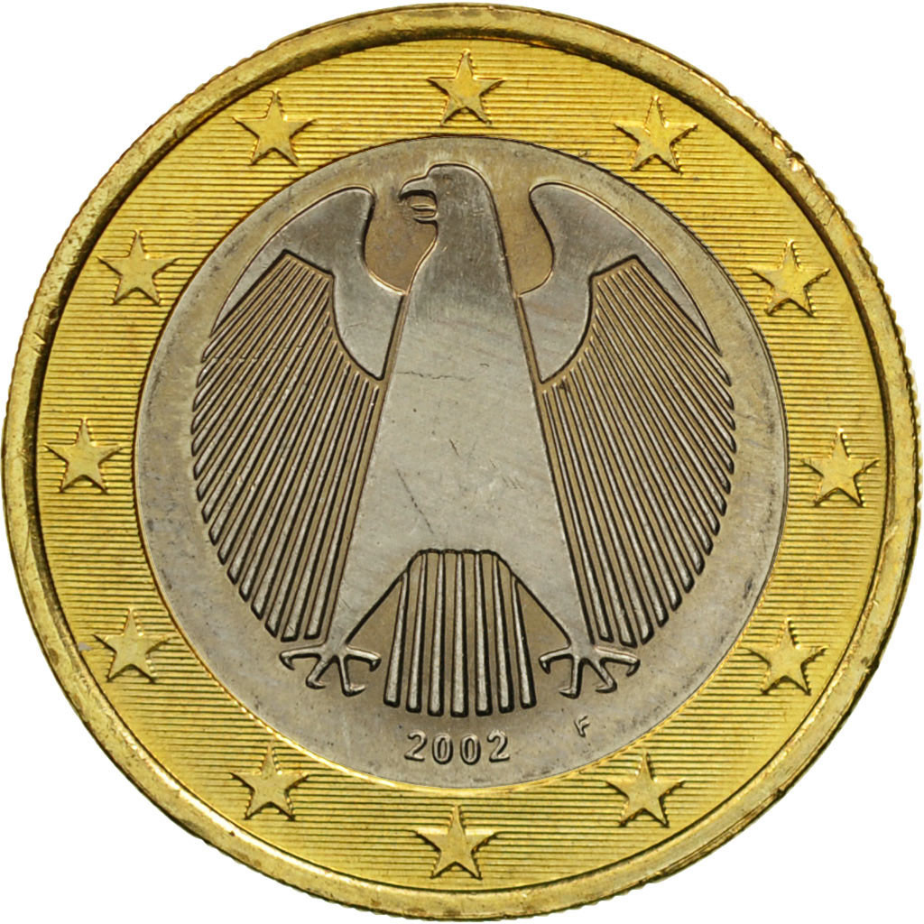 Ebay 1 Euro Details About 461323 Germany Federal Republic Euro 2002 Bi Metallic Km 213