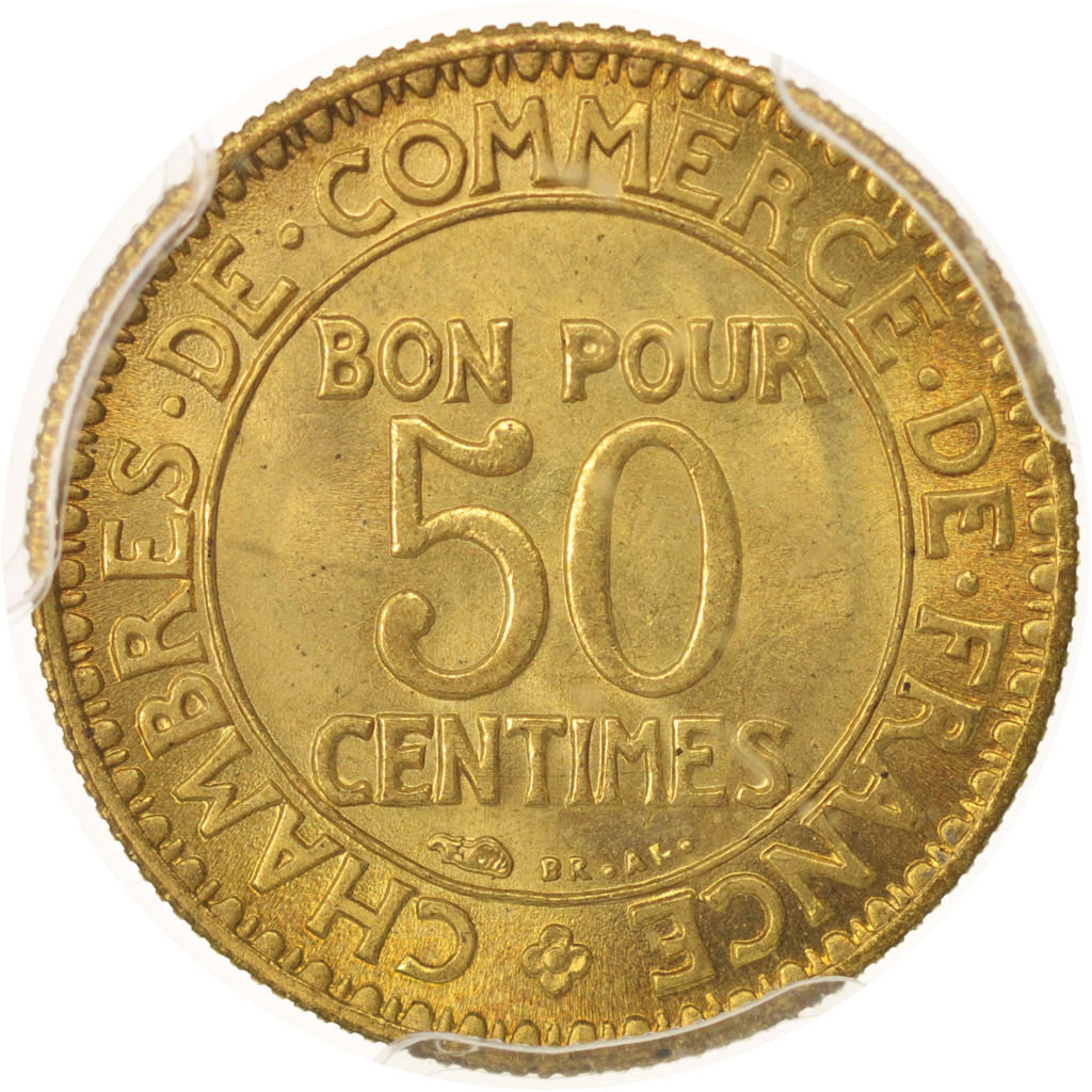 Chambre Du Commerce Paris 480365 France Chambre De Commerce 50 Centimes 1922