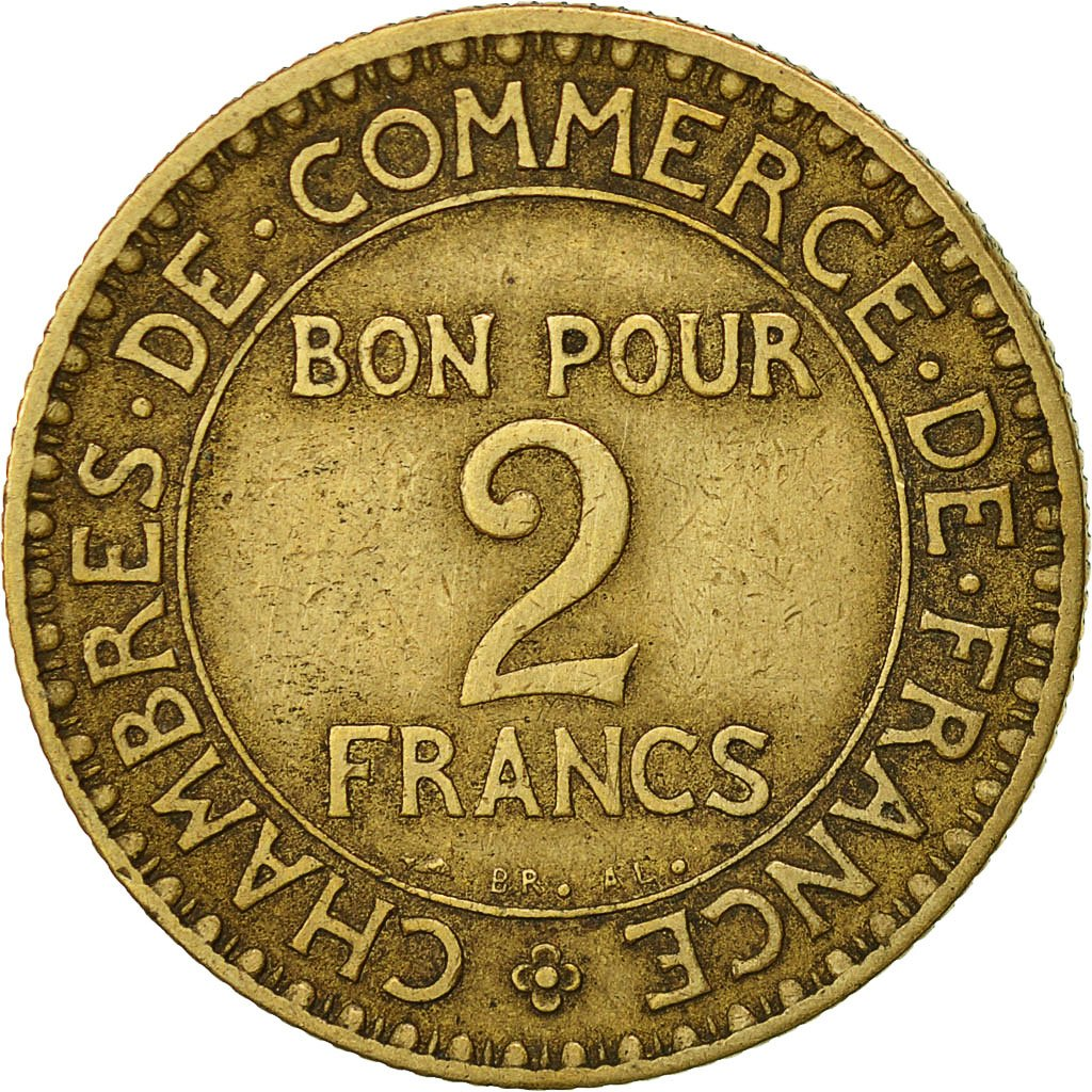 Chambre Du Commerce Paris 522337 France Chambre De Commerce 2 Francs 1920 Paris