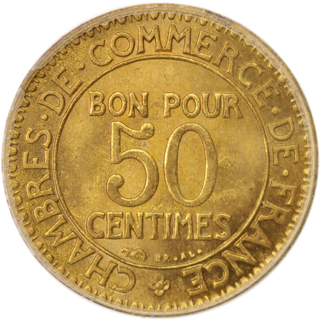 Chambre Du Commerce Paris 96437 France Chambre De Commerce 50 Centimes 1923