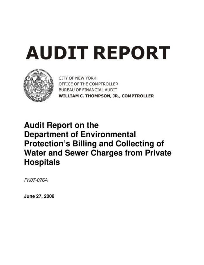 Audit Report on the Department of Environmental Protection\u0027s Billing