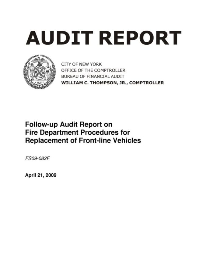 Follow-Up Audit Report on Fire Department Procedures for Replacement