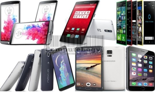 Samsung Galaxy Note 4 Nexus 6 Lumia 1520 OnePlus One iPhone 6 Plus LG G3 computelogy 800
